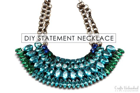 Statement Necklace Tutorial Diy Rhinestone Necklace