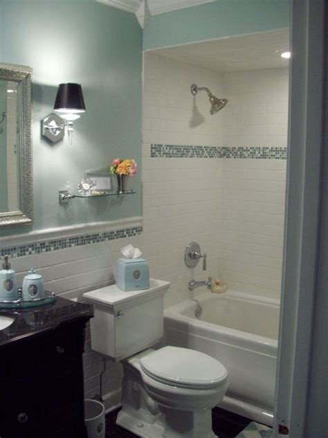 Spa Blue Bathroom by Spa Blue Bathroom Makeover In Black White And Blue With