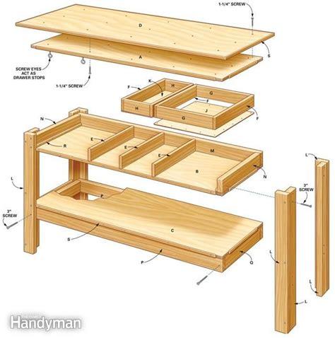 family woodworking 1000 ideas about garage workbench on garage