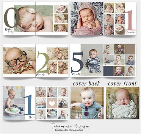 12x12 baby album photoshop template newborn photo album