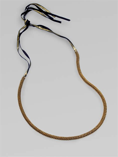 brass chain for jewelry elie tahari chantel brass chain necklace in gold bronze