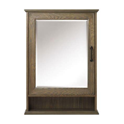 driftwood medicine cabinet home decorators collection walden 24 in w x 34 in h framed surface mount bathroom medicine