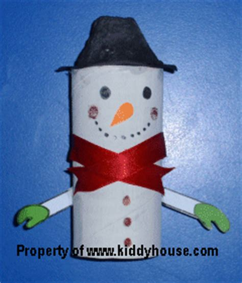 toilet paper roll snowman craft crafts for toilet roll snowman craft