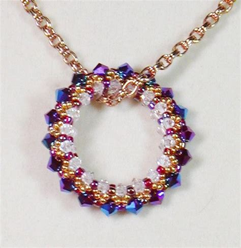 bead weaver bead weaving pendant necklace circle of necklace