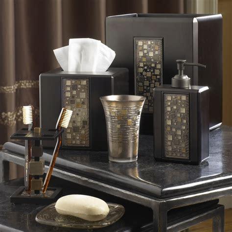 mosaic bathroom accessories mosaic mocha bath accessories by croscill bedbathhome