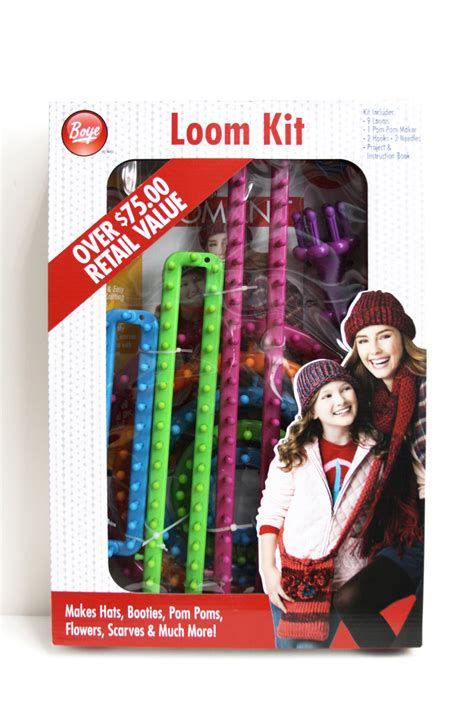 loom knitting kit and easy knitting loom cowl