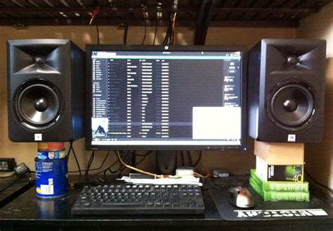 studio monitors on desk studio monitor desk stands whitevan