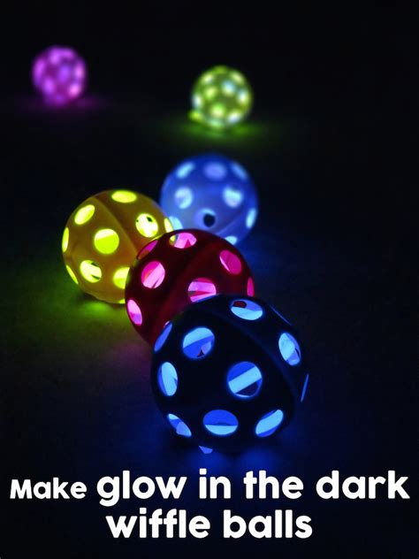 glow in the crafts for glow in the wiffle balls an easy diy craft idea or