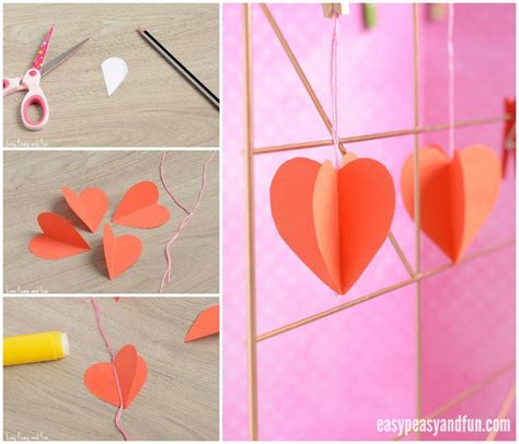 paper craft hearts 3d paper craft easy peasy and
