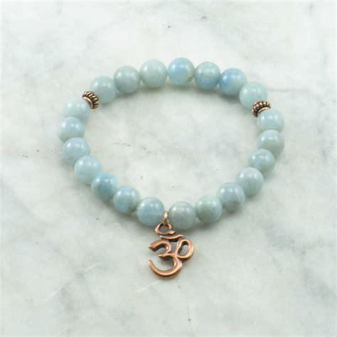 aquamarine mala sea mala bead bracelet 21 aquamarine mala