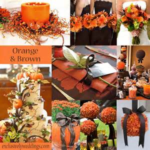 colour in decorations an orange color combination for your fall wedding