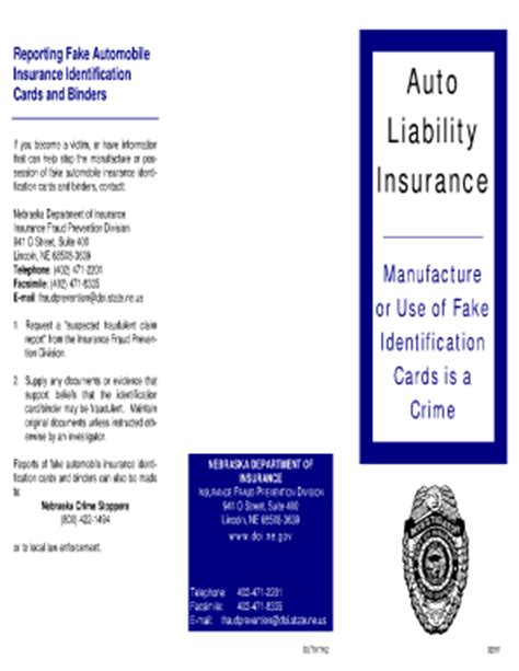 how to make an insurance card in title pdf dakota auto insurance card template