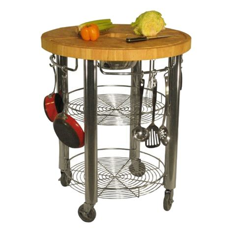 Kitchen Island Butchers Block 30 in round kitchen cart 2 in butcher block cart