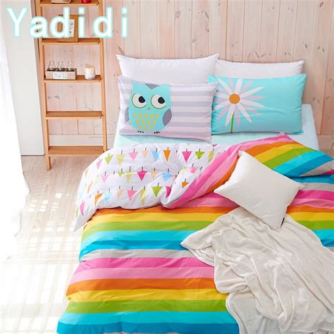 rainbow bedding sets rainbow quilt in bright pink