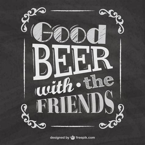 Tipografía de cerveza en pizarra   Descargar Vectores gratis