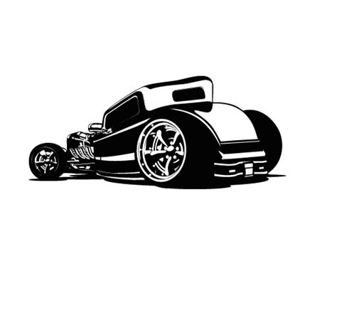 Kitchen Wall Murals hotrod car wall decal removable wall stickers and wall