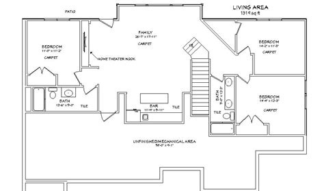 walk out basement floor plans ideas walkout basement appraisal house plans with walkout