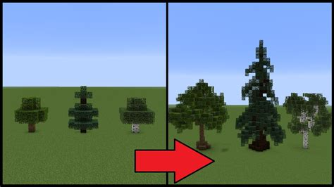 minecraft how to make better trees