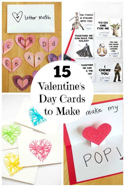 make valentines day cards 15 s day cards for make and takes