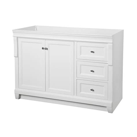 White Bathroom Vanity Home Depot foremost naples 48 in w bath vanity cabinet only in white