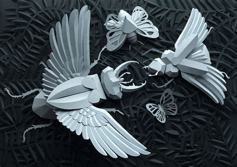 amazing paper craft drawing with paper amazing papercraft from lobulo design