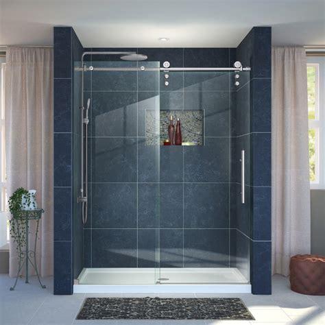 contemporary shower doors dreamline enigma z fully frameless sliding shower door