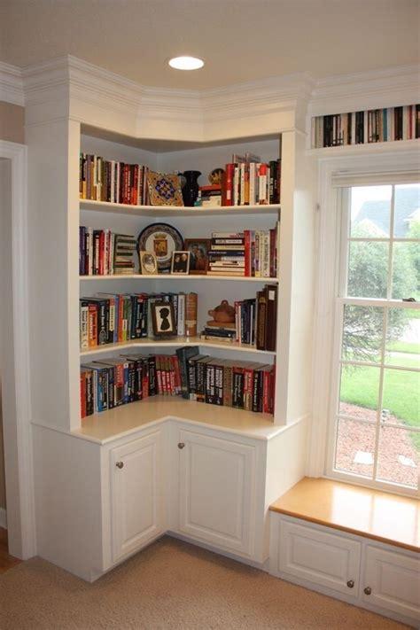 built in corner bookshelves best 25 corner bookshelves ideas on bookshelf