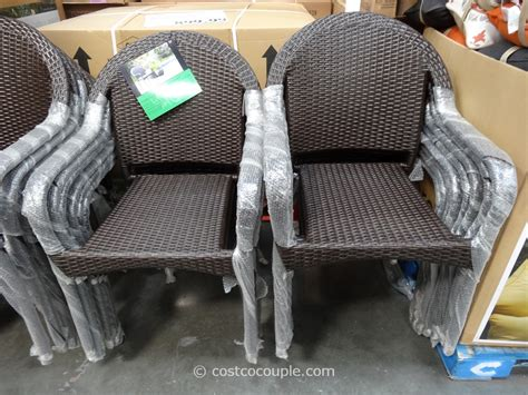 costco wicker patio furniture resin wicker bistro chairs