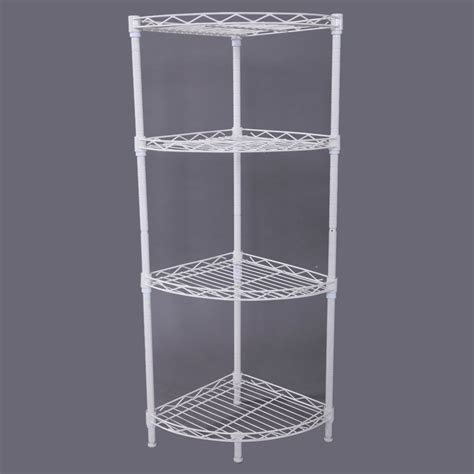 wire bathroom shelving corner storage rack 4 tier rack shelf wire shelving
