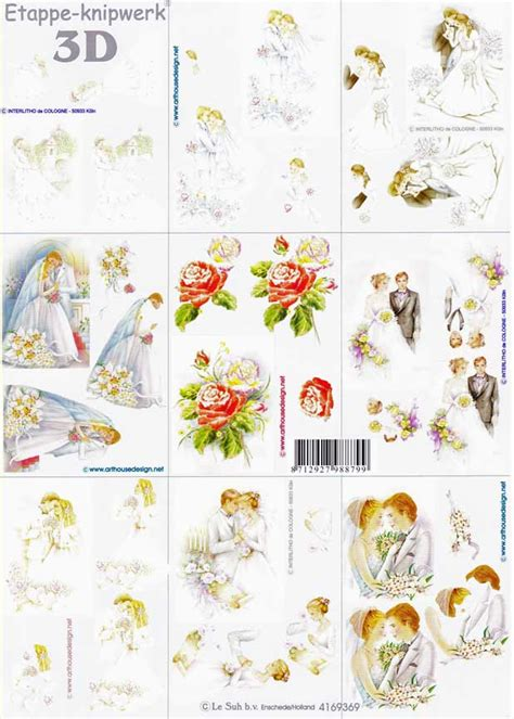 wedding decoupage sheets mini wedding designs 3d decoupage sheet