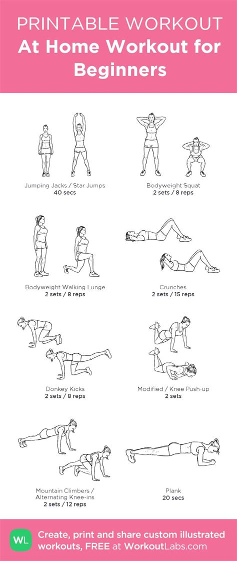 at home for beginners beginners workout s inspired