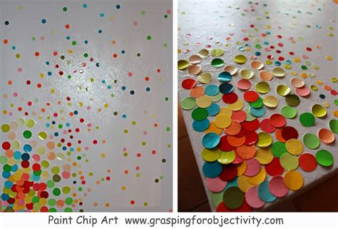 painting craft projects paint chip grasping for objectivity