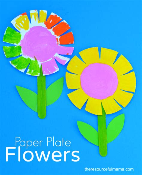 paper plate flower craft 50 paper plate crafts for top notch teaching