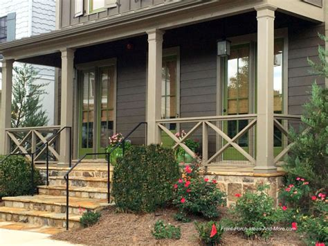 Farmhouse Home Plans front porch railing ideas materials and more
