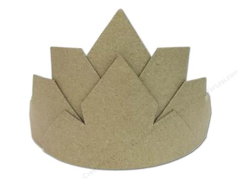 large craft paper paper mache crown large by craft pedlers createforless