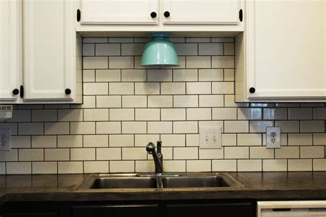 subway tile backsplash ideas for the kitchen how to install a subway tile kitchen backsplash