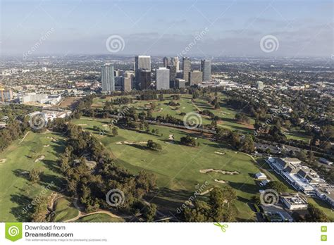 golf in la century city and the los angeles country club editorial