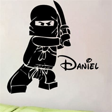 personalized wall decals for rooms personalized name ninjago lego vinyl wall decal sticker