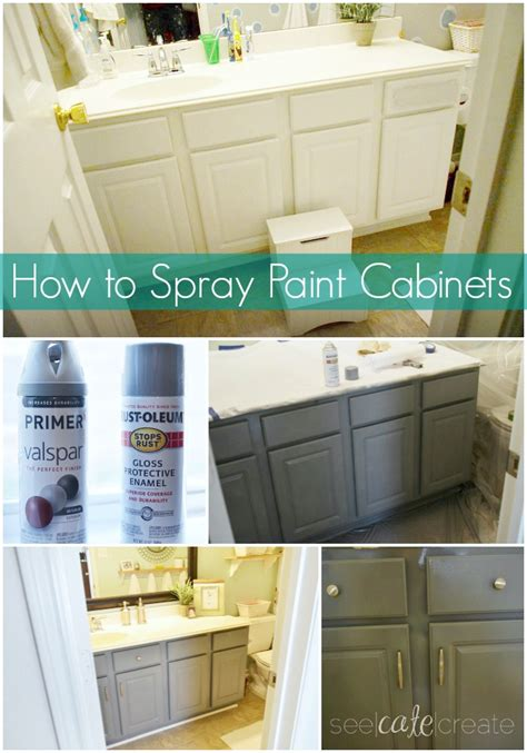 spray painters kitchen cabinets how to spray paint cabinets bathroom makeover you can