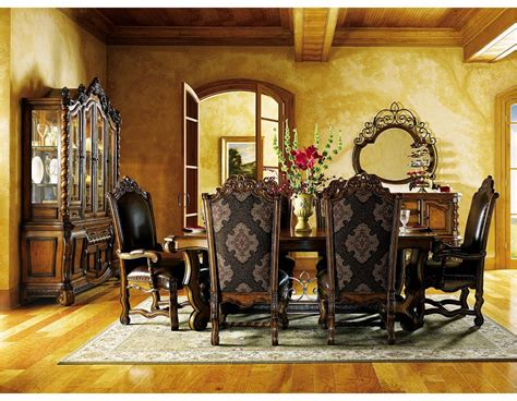 world traditional tuscan dining room and kitchen