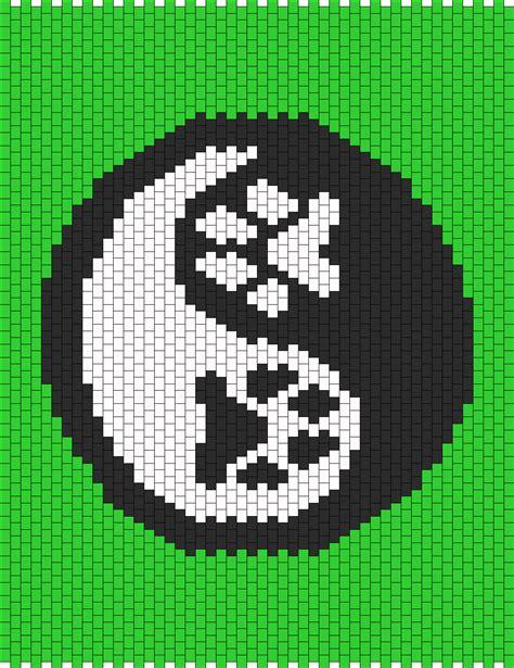 yin yang perler paw print yin yang bead pattern peyote bead patterns