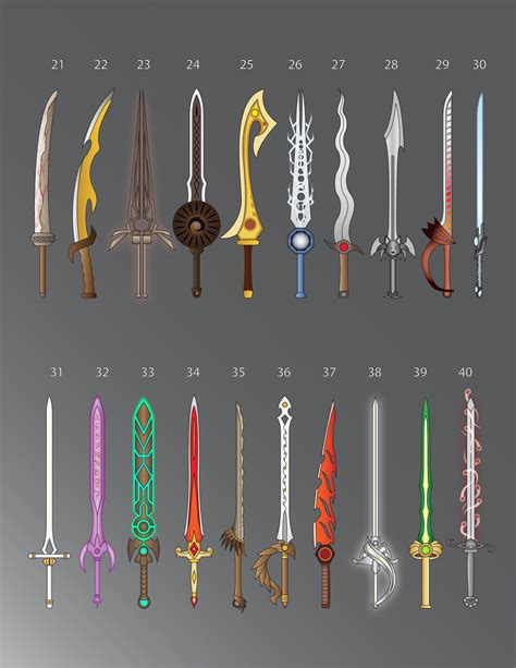 sword list 100 swords 21 40 by lucienvox on deviantart
