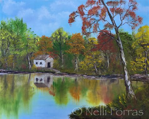 bob ross painting home in the valley newshour fans take the bobrosschallenge and the results