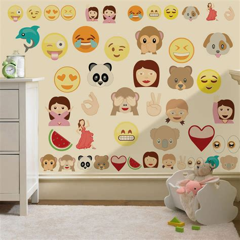 How To Apply Wall Stickers children s emoji design bedding bedroom collection