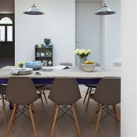 Gray Dining Room Chairs neutral dining room with grey chairs decorating ideal home