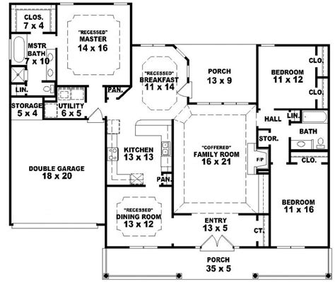 1 story country house plans beautiful one story country house plans 1 single story