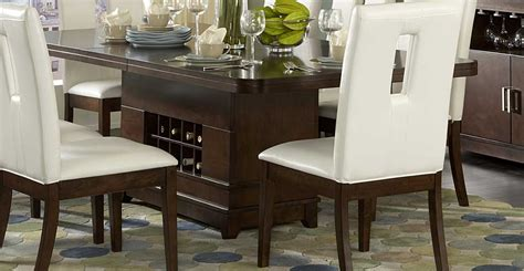 wine dining table homelegance elmhurst dining table with wine storage 1410
