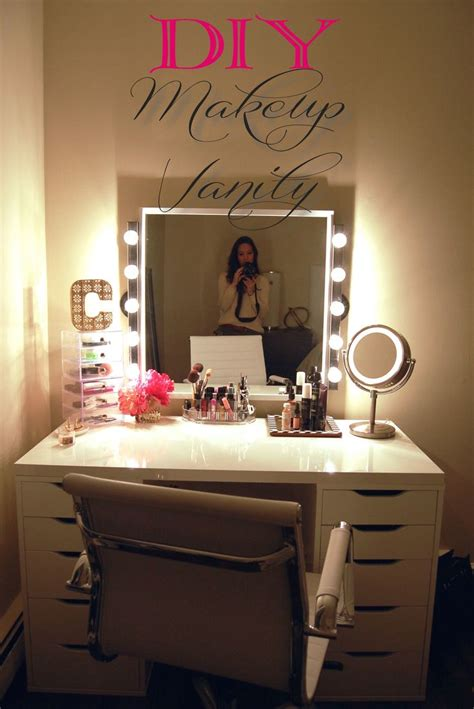 makeup vanities for bedrooms with lights diy makeup vanity brilliant setup for your room with