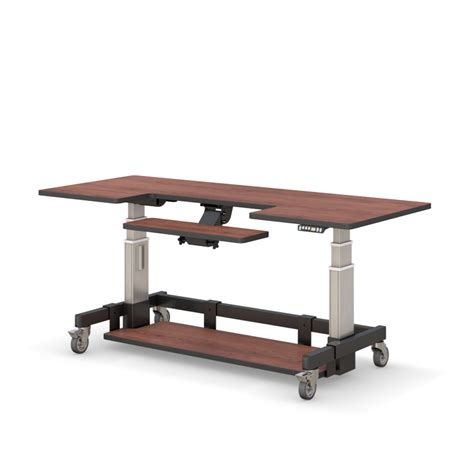 height of a computer desk adjustable height rolling computer desk afcindustries