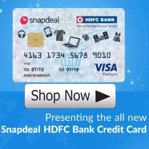 make payment of hdfc credit card snapdeal hdfc bank credit card exclusive offers